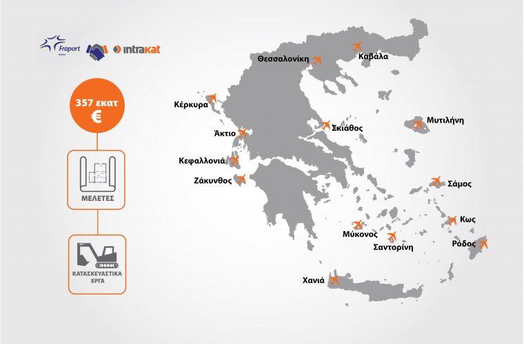 Υπογραφή συμβάσεων μεταξύ Fraport Greece και Intrakat για τα κατασκευαστικά έργα στα 14 περιφερειακά αεροδρόμια