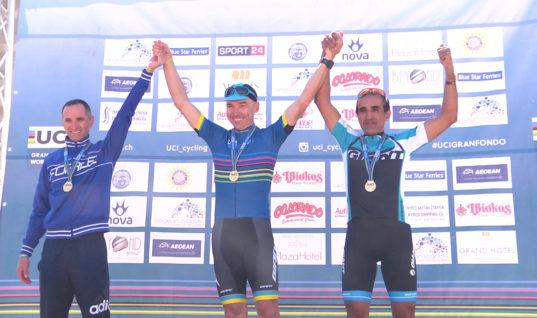 Σάρωσαν οι Έλληνες στο φινάλε του UCI Gran Fondo Rhodes