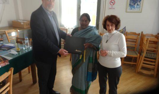 Στον Οργανισμό Λιμένος Ηρακλείου η Πρέσβειρα της Ινδίας στην Ελλάδα