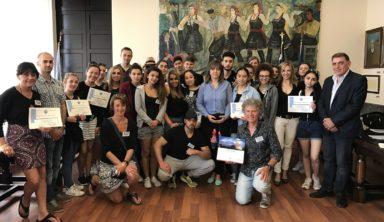 """Επίσκεψη μαθητών του Λυκείου """"Centre d' Ensignement Libre S2"""" της Λιέγης στο Δήμο Ρόδου"""