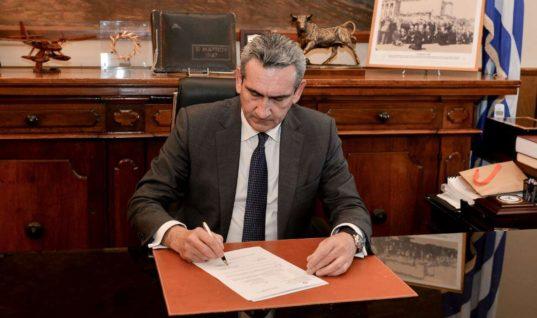 Επιστολή του Περιφερειάρχη Νοτίου Αιγαίου στον Α. Χαρίτση για το ειδικό Αναπτυξιακό Πρόγραμμα
