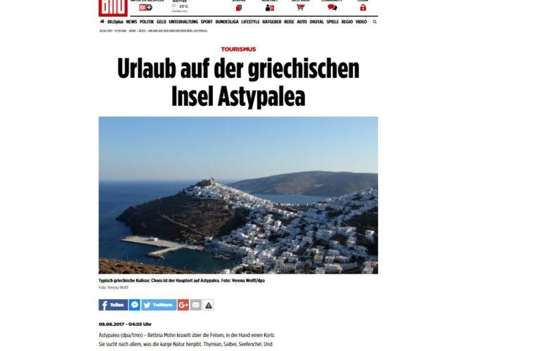 Μεγάλη προβολή της Αστυπάλαιας σε γερμανόφωνα ΜΜΕ