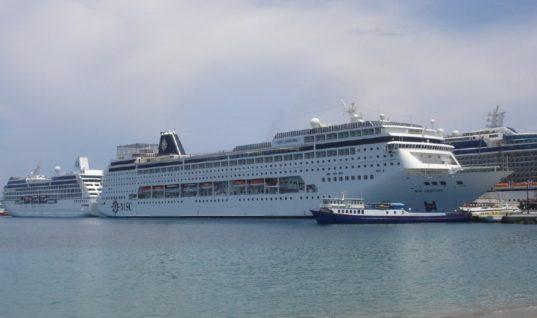 Μόνο 37 κρουαζιερόπλοια τον Ιούλιο στο λιμάνι της Ρόδου