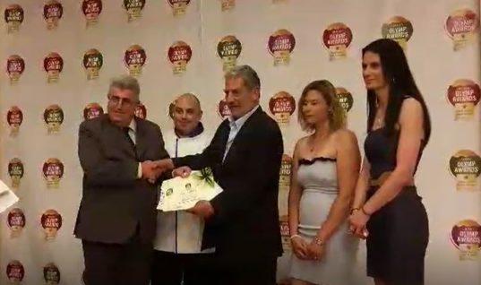 """Δύο χρυσά βραβεία στην Κάλυμνο στα """"Οlymp Αwards 2017"""""""