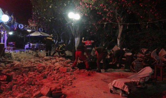 Φονικός σεισμός στην Κω – 2 νεκροί