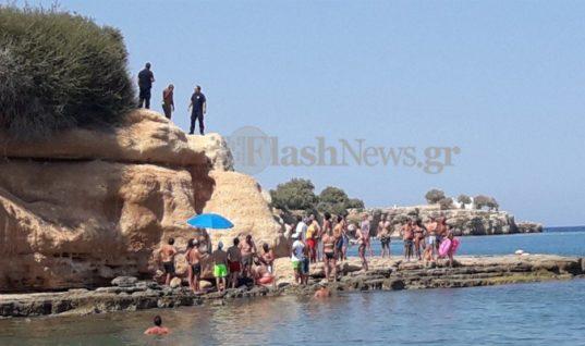 Κρήτη: Τουρίστας έπεσε από μεγάλο υψόμετρο σε παραλία