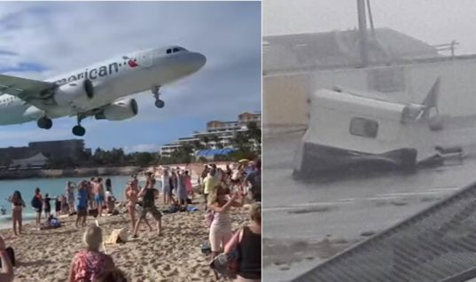 Η «Ίρμα» ισοπέδωσε το διάσημο αεροδρόμιο όπου τα αεροπλάνα…«ξύριζαν» κεφάλια