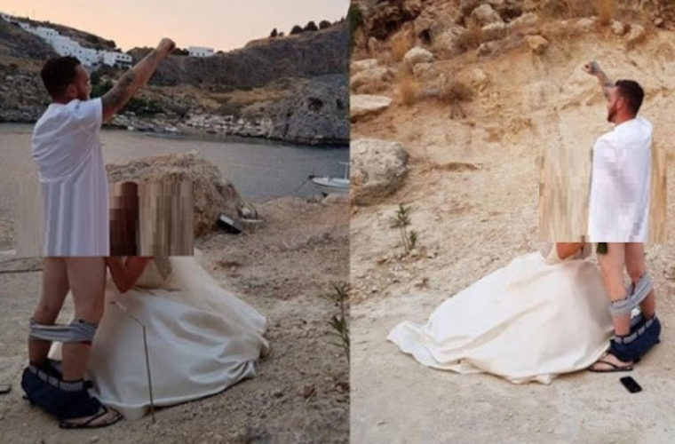 Σάλος από την φωτογράφιση γαμπρού – νύφης στην Ρόδο!