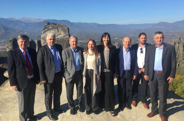 Η Υπουργός Τουρισμού Έλενα Κουντουρά στην Καλαμπάκα και τα Μετέωρα