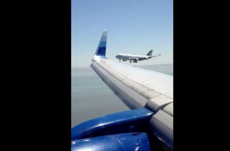 Βίντεο που «κόβει την ανάσα»: Αεροπλάνα έρχονται «φτερό με φτερό» κατά την προσγείωση