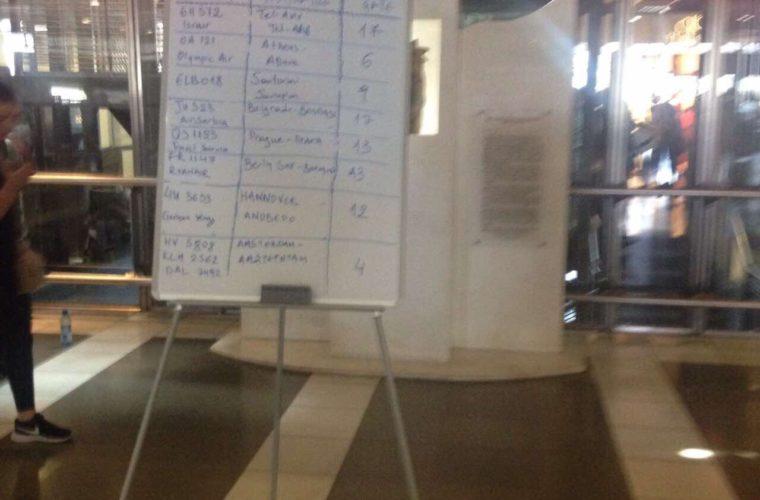 ΑΠΟΚΛΕΙΣΤΙΚΟ : Σε ποιο αεροδρόμιο της Fraport αναρτήθηκε ο συγκεκριμένος πίνακας πτήσεων ;
