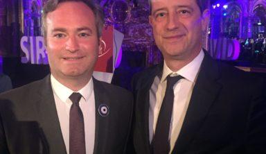 Ο Γενικός Γραμματέας Τουριστικής Πολιτικής και Ανάπτυξης Γιώργος Τζιάλλας με τον Υφυπουργό Ευρωπαϊκών και Εξωτερικών Υποθέσεων της Γαλλίας, αρμόδιο για τον τουρισμό, Jean-Baptiste Lemoine