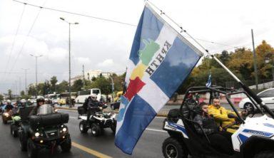 Στο υπουργείο Μεταφορών οι «γουρούνες» από την Κρήτη (pics)