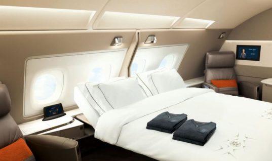 Οι σουίτες των νέων Airbus της Singapore θυμίζουν… ξενοδοχείο
