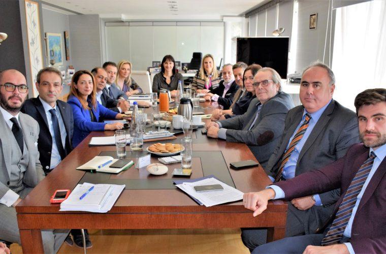 Συνάντηση Εργασίας  της Υπουργού Τουρισμού Έλενας Κουντουρά με το νέο Δ.Σ. της ΠΟΞ