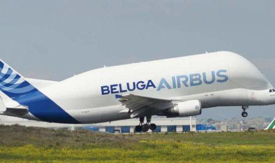 Η… φάλαινα των αιθέρων στο Ελευθέριος Βενιζέλος -Το εντυπωσιακό αεροσκάφος Beluga της Airbus (Pics)
