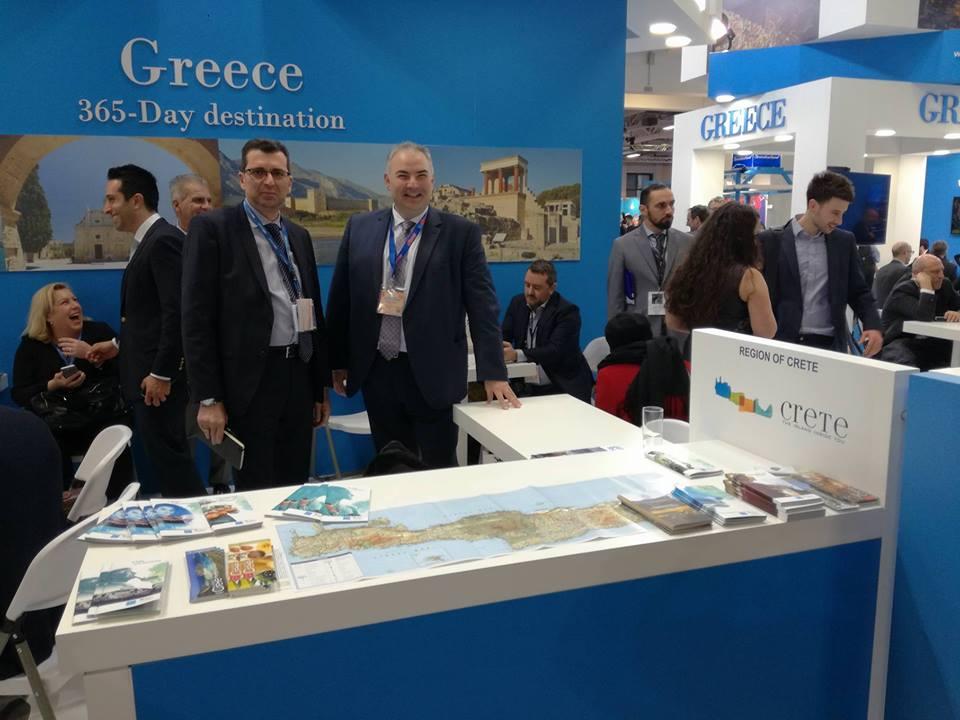 Ο Μιχάλης Βαμιεδάκης με τον στενό του συνεργάτη στο Deltanet και alltours Κώστα Φράντζη