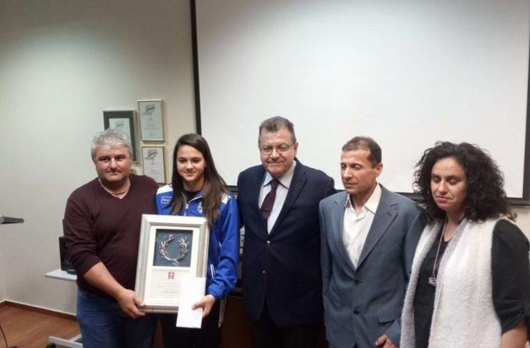 Εκδήλωση προς τιμήν της πρωταθλήτριας Ευρώπης στο καράτε κ. Κέλλυς Κυδωνάκη