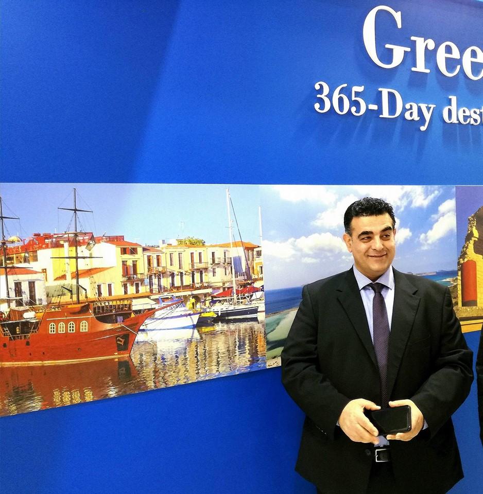 Ο πρόεδρος του Συλλόγου Δ/ντων Ξενοδοχείων Κρήτης κ.Δημήτρης Κουμπαράκης