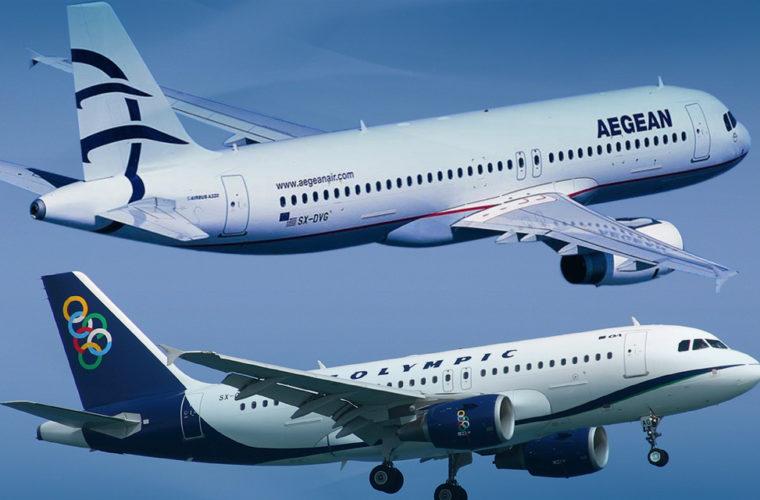 Με αεροσκάφη της Aegean και της Olympic Air θα μεταφερθεί το Άγιο Φως