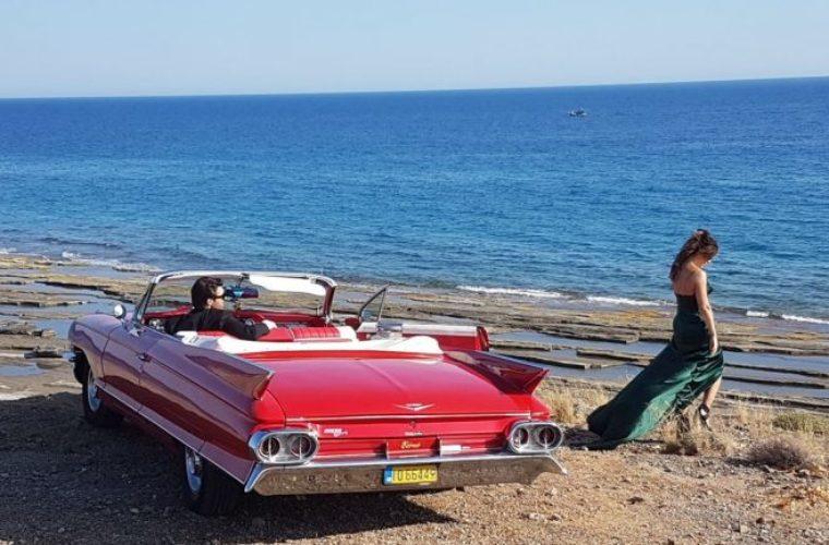 Η κόκκινη cadillac, τα τοπία της Κρήτης και η διάσημη τραγουδίστρια!