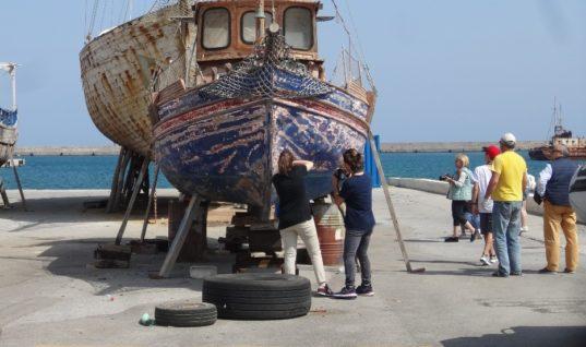 Μαθητές του Πειραματικού Γυμνασίου στο λιμάνι του Ηρακλείου