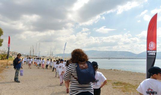 Οι Μινωικές Γραμμές και η HELMEPA «έδωσαν ζωή» στην παραλία Φρεαττύδας, στον Πειραιά