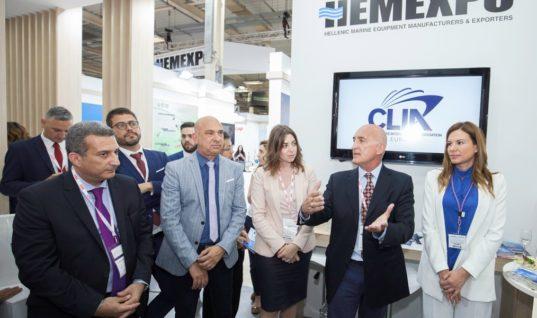 Από αριστερά, ο κ. Ανδρέας Χρυσοστόμου, Γενικός Γραμματέας της CLIA Europe, η κα. Μαρία Δεληγιάννη, Εκπρόσωπος Κυβερνητικών και Δημοσίων Υποθέσεων Ανατολικής Μεσογείου, o κ. Κυριάκος Αναστασιάδης, Πρόεδρος της CLIA Europe και Διευθύνων Σύμβουλος της Celestyal Cruises και η κ. Ελένη Πολυχρονοπούλου, Πρόεδρος του HEMEXPO