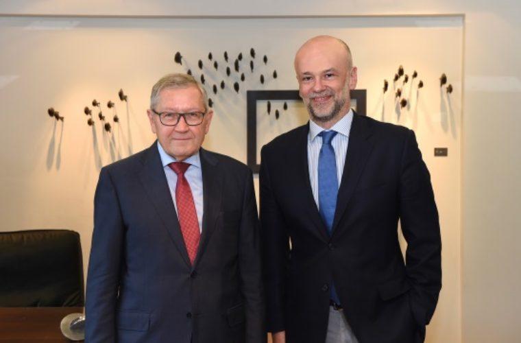Ο πρόεδρος του ΣΕΤΕ κ.Γιάννης Ρέτσος με τον κ. Βάλντις Ντομπρόβσκις, αντιπρόεδρο της Ευρωπαϊκής Επιτροπής και επίτροπο