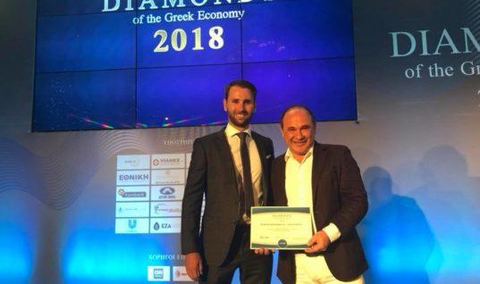 Σπουδαία διάκριση για τα Cactus Hotels ως ¨Διαμάντι της Ελληνικής Οικονομίας 2018¨
