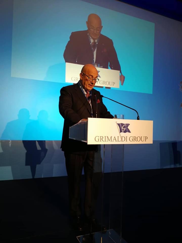 Ο οικοδεσπότης εφοπλιστής επικεφαλής του Ομίλου Γκριμάλντι