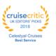 Η Celestyal Cruises βραβεύτηκε για άλλη μία χρονιά στα Cruise Critic UK Editors' Picks Awards 2018