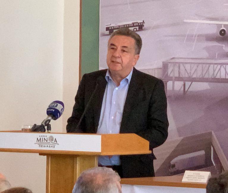 """Αρναουτάκης: """"Το νέο αεροδρόμιο θα συμβάλλει στην οικονομία"""""""