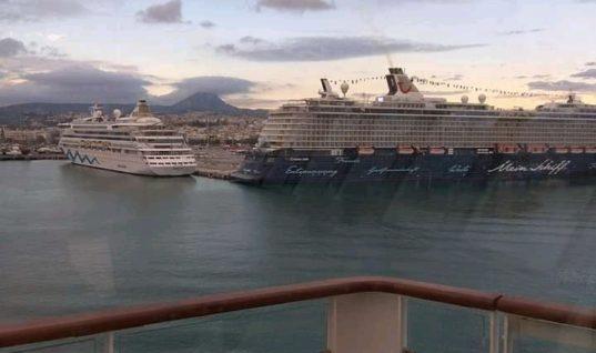 Τρία κρουαζιερόπλοια με 11.500 επιβαίνοντες στο λιμάνι του Ηρακλείου