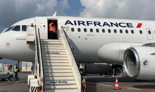 Αεροσκάφος της Air France για πρώτη φορά στο αεροδρόμιο Ηρακλείου