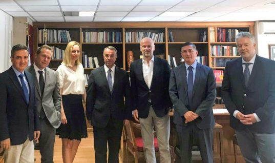 Συνάντηση αντιπροσωπείας του ΣΕΤΕ με τον Υπουργό Οικονομικών Χρήστο Σταϊκούρα
