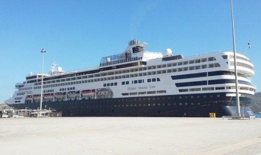 Στο λιμάνι της Σούδας το πολυτελές κρουαζιερόπλοιο Veendam