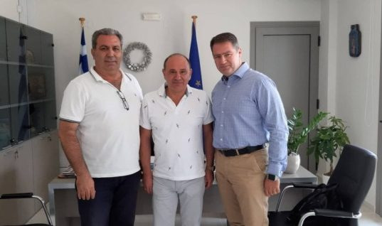Ηράκλειο : Ο Δήμαρχος Χερσονήσου Είχε Συνάντηση Με Τον Πρόεδρο Ένωσης Ξενοδόχων Ν. Ηρακλείου, Νίκο Χαλκιαδάκη
