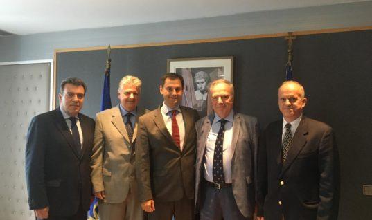 Συνάντηση της πολιτικής ηγεσίας του υπουργείου Τουρισμού με τον πρόεδρο της Ένωσης Εφοπλιστών Κρουαζιέρας, κ. Θεόδωρο Κόντε