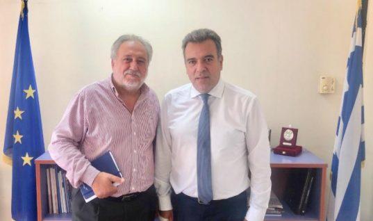 Συνάντηση Μάνου Κόνσολα, με τον Πρόεδρο της Sky Express για την αεροπορική σύνδεση των μικρών νησιών