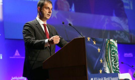 Πρόσκληση στον Αραβικό κόσμο για επενδύσεις , από τον υπουργό Τουρισμού, κ. Χάρη Θεοχάρη, στην 4η Σύνοδο της Ευρω-Αραβικής Συνεργασίας (4th EU-Arab World Summit)