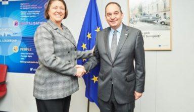Συνάντηση Υπουργού Ναυτιλίας και Νησιωτικής Πολιτικής κ. Γιάννη Πλακιωτάκη με την Ευρωπαία Επίτροπο Μεταφορών κυρία Violeta Bulc