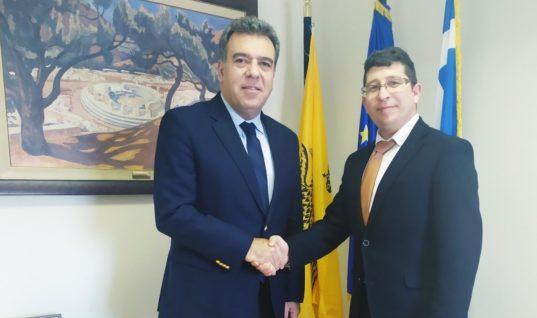 Γαστρονομικός τουρισμός και σύνδεση πρωτογενούς τομέα και τουρισμού στο επίκεντρο της συνάντησης του Υφυπουργού Τουρισμού με τον Πρόεδρο της Ένωσης Ξενοδόχων Ρόδου