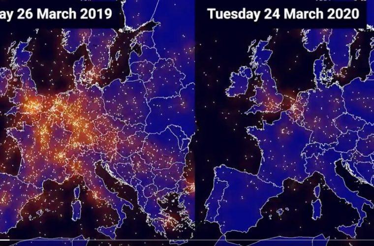 Κατάρρευση της αεροπορικής κίνησης πάνω από την Ευρώπη